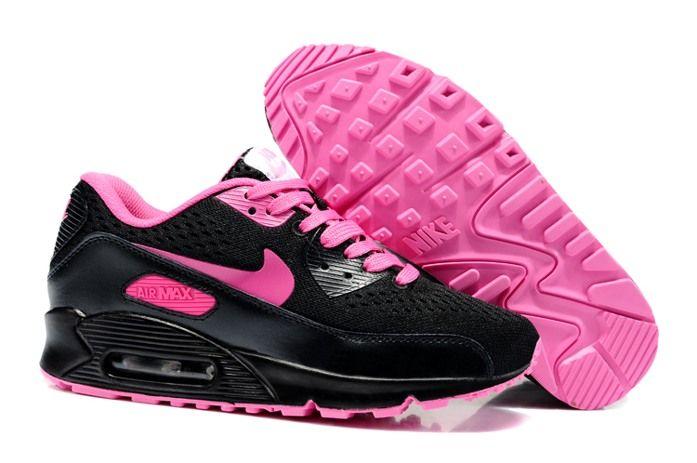 uCyhb Nike Air Max 90 Em Womens Shoes 2014 Black Rosa