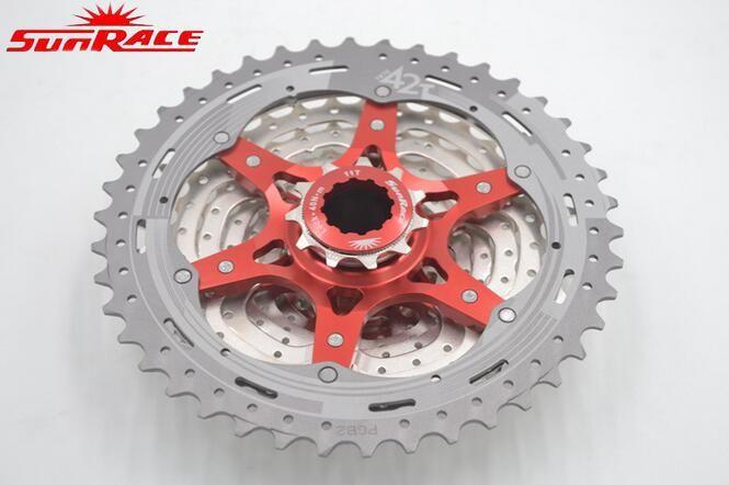 Sunrace kaset sepeda freewheel 10 speed dan 11 speed 40/42/46 t lebar rasio mtb sepeda gunung kaset freewheel sepeda roda gila