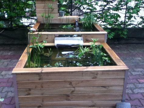 55 best u2022°Bassin \ étangu2022° images on Pinterest Backyard ponds - terrasse bois avec bassin