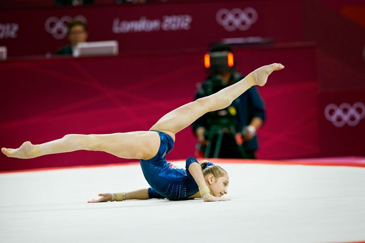 London 2012 - Victoria Komova earned a score of 15.100 in the floor exercise and took silver in the women's artistic gymnastics all around competition.  IOC/John Huet