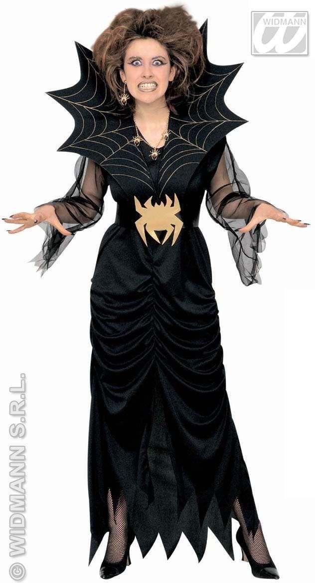 HALLOWEEN SPIDER LADY ADULT FANCY DRESS COSTUME LADIES