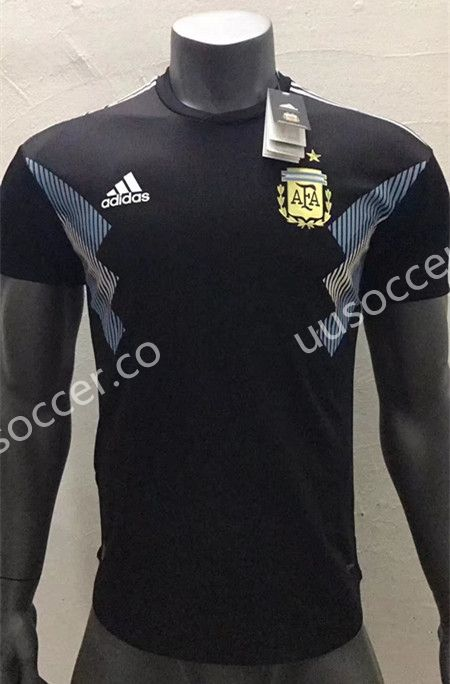1138b45efe5 Player Version 2018 World Cup Argentina Away Black Thailand Soccer Jersey  AAA