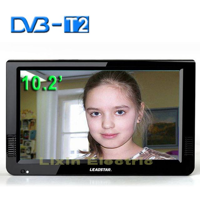 2016 New HD TV 10.2 Inch Digital And Analog TV Receiver And TF Card And USB Audio And Video Playback Portable DVB-T2 Television