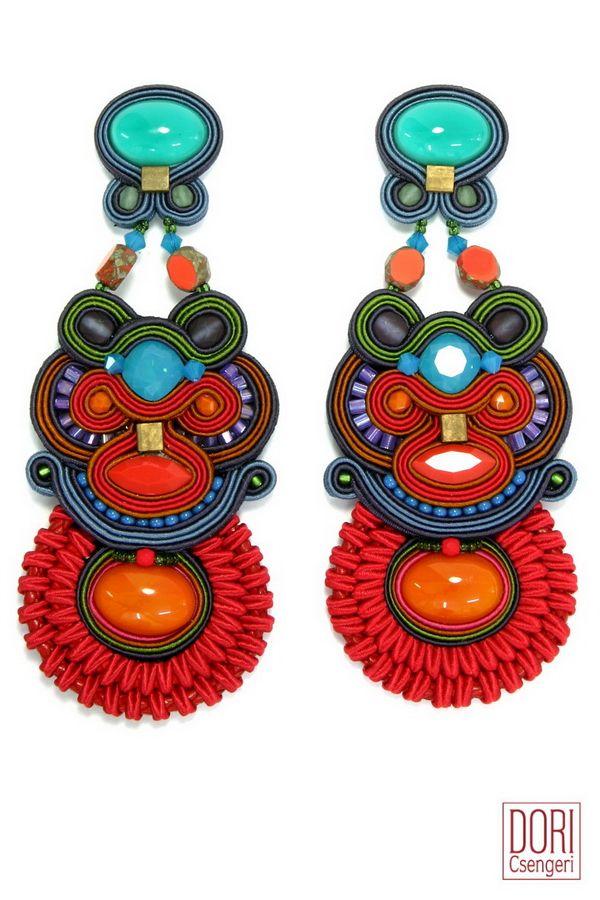 Fusion stunning designer maker clip on earrings. #DoriCsengeri #statement #earrings #fall2015 #winter2016 #fashion #accessories