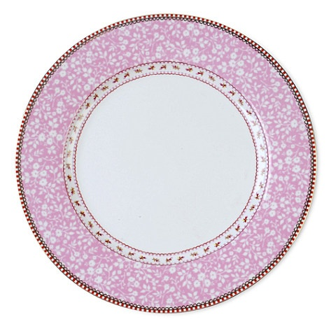 pink plate.