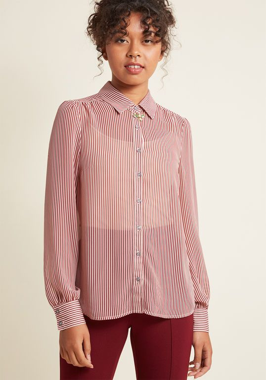 52fd7c5ad19 Be Buzzworthy Button-Up Top in Wine in 4X