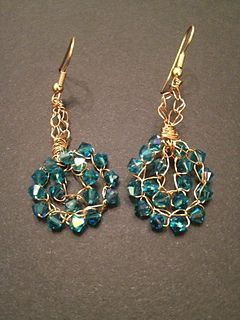 Here is a FREE video tutorial to make adorable beaded crochet wire earrings. A pair takes about half an hour to make. You could make them for everyone you know in no time at all!
