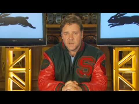 ▶ Russell Crowe's Exclusive South Sydney Rabbitohs Member Message - YouTube