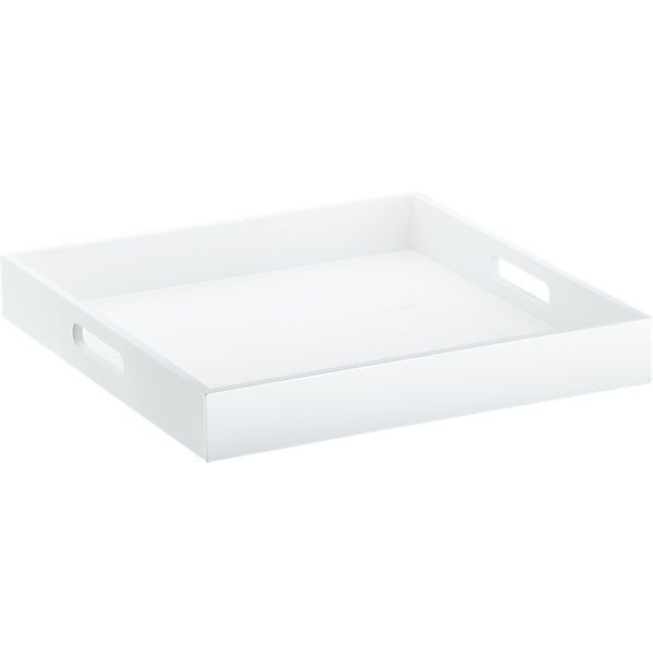 Shop Aira Black Square Coffee Table With Modern White Tray: 1000+ Ideas About White Lacquer Desk On Pinterest