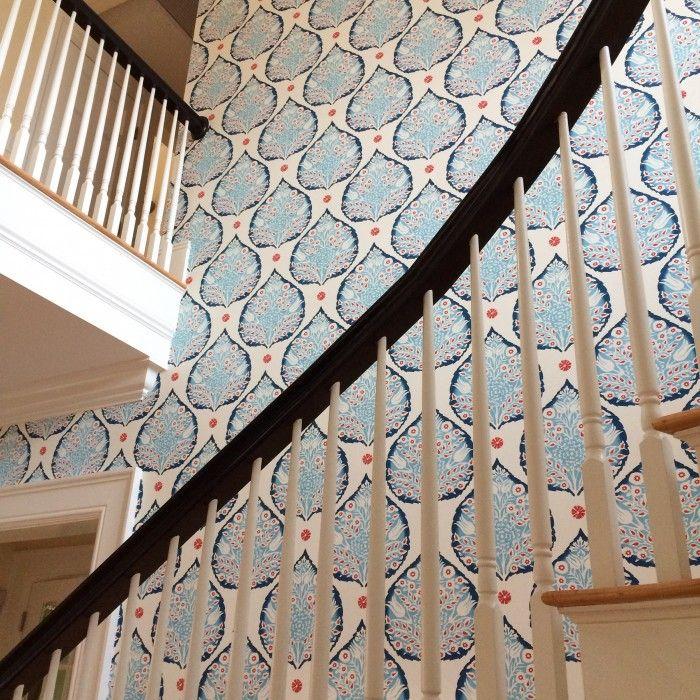 Lotus Wallpaper – Custom – Rachel Reiders | Galbraith & Paul | Wallpaper | Lotus wallpaper, Wallpaper, Bathroom wallpaper
