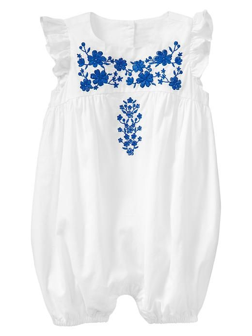 Embroidered Flutter One-piece | Off-white | Gap | £14.95