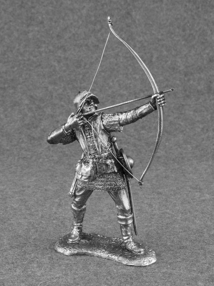 Miniature Figure Toy Medieval 1/32 English Archer Bowman Knight Tin Soldier 54mm #Roninminiatures