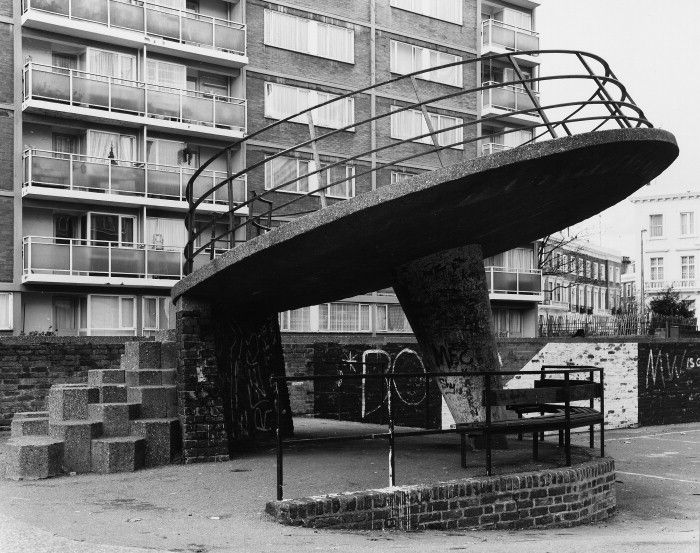 Flying Saucer Playground in Churchill Gardens Pimlico London