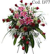 cross+funeral+sprays | ... for condolences to Peru, funeral wreaths, floral cross, funerals Peru