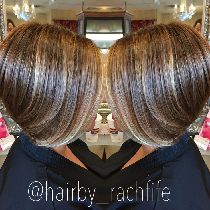 Short bob haircut with subtle balayage highlights. hair by Rachel Fife @ SF Salon
