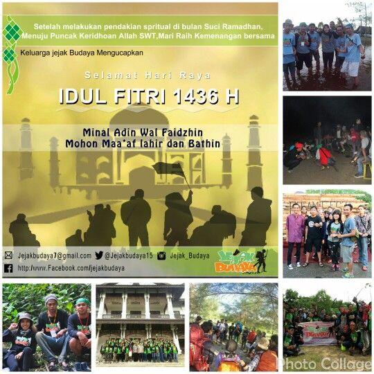 Keluarga Jejak Budaya mengucapkan  selamat Hari Raya Idul Fitri 1436 H. Mohon maaf Lahir dan Bathin  #jejakbudaya #lebaran
