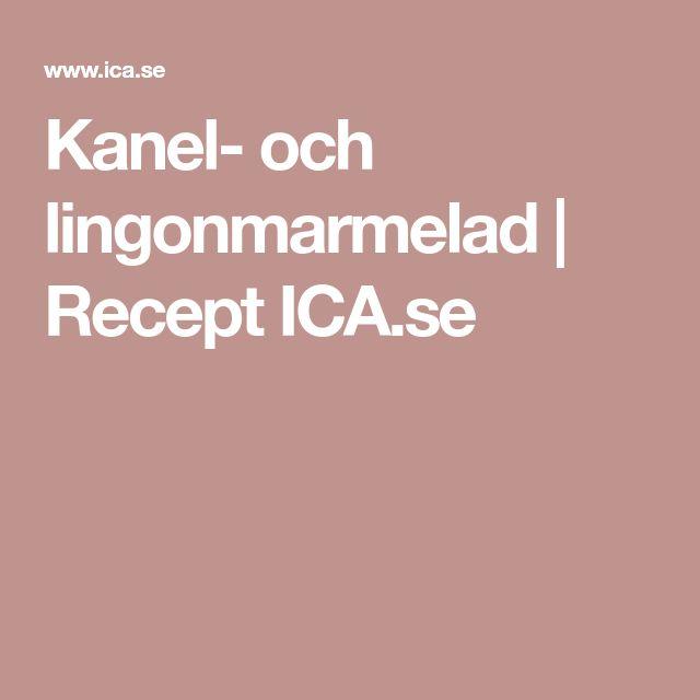Kanel- och lingonmarmelad | Recept ICA.se