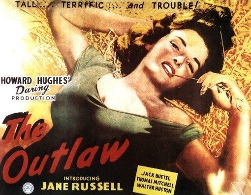 THE OUTLAW MOVIE POSTER Jane Russell RARE HOT VINTAGE 4