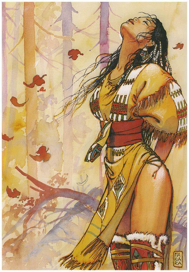 Native American  artwork by Milo Manara
