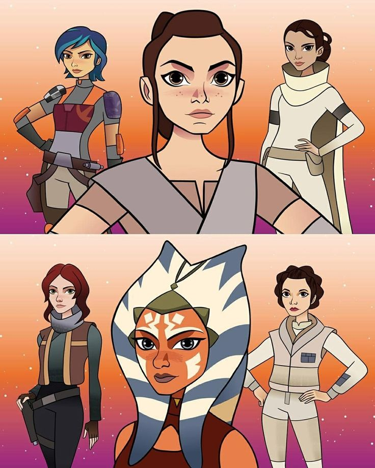 Rey,Sabine Wren,Padme Amidala,Jyn Erso,Ahsoka Tano And Leia Organa -Star Wars:Forces Of Destiny(2017)