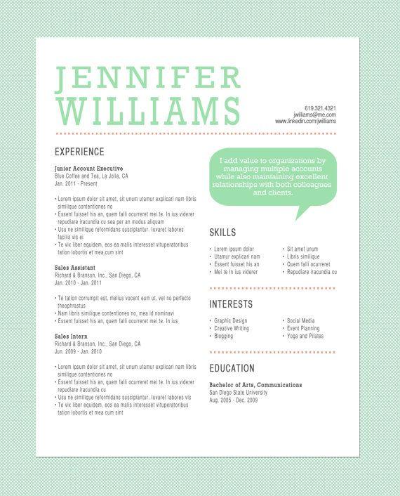 customized resume on etsy