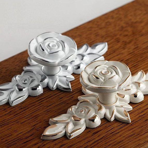 drawer pulls handles kitchen cabinet knob pull handles rose flower handle pull art design cupboard handle vintage furniture hardware plate