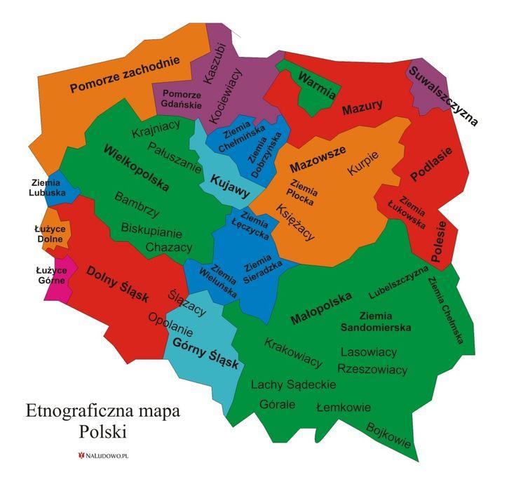 etnograficzna mapa polski