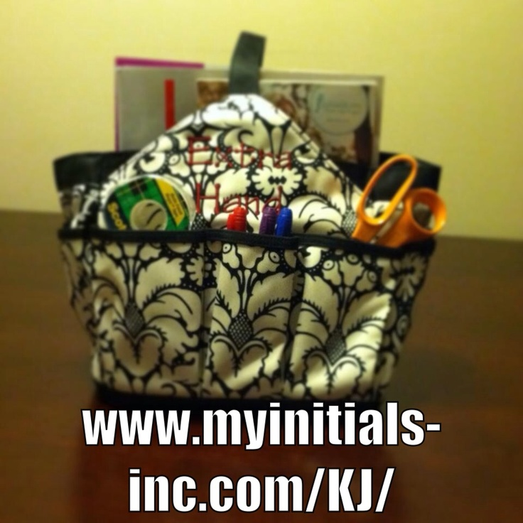 Perfect tote for wrapping supplies or scrap booking tools!