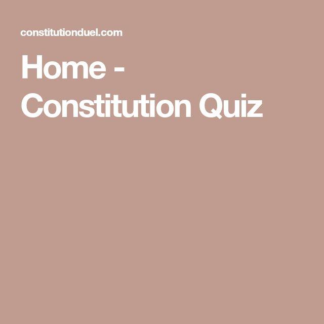 Home - Constitution Quiz