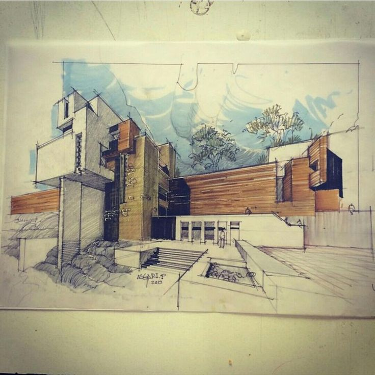 Sketch arquitectura pinterest for Architecture 54