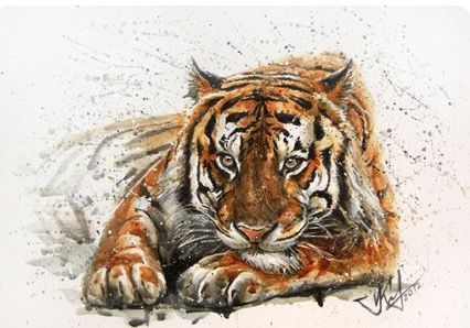 KOSTART | WATERCOLOR | Tiger