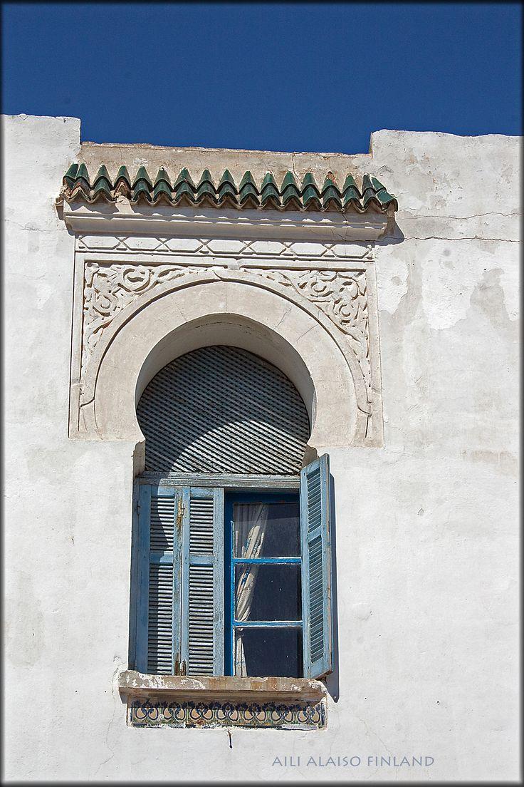 Beautiful blue window in Sousse ,Tunisia by Aili Alaiso Finland www.Palas.fi/fiAiliAlaiso