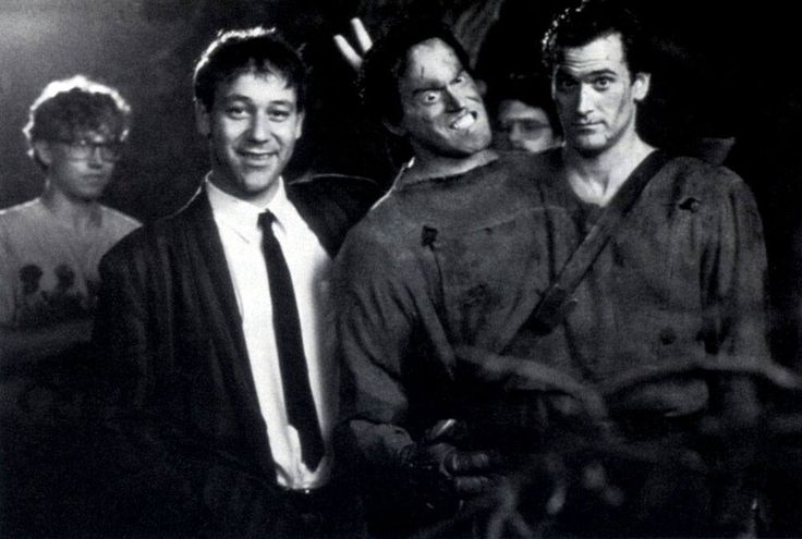 Sam Raimi & Bruce Campbell behind the scenes on #ArmyOfDarkness (1992).