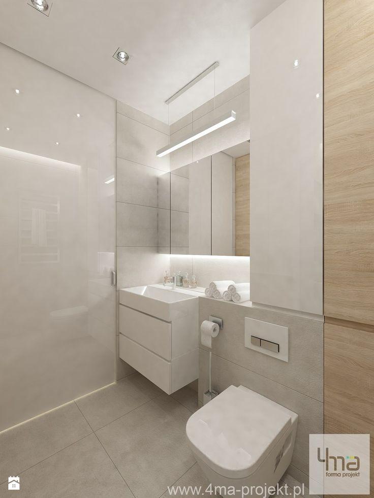 Fesselnd Projekt Mieszkania W Pruszkowie   Pow. 52,5 M2.   Mała średnia łazienka ·  Bad Inspiration