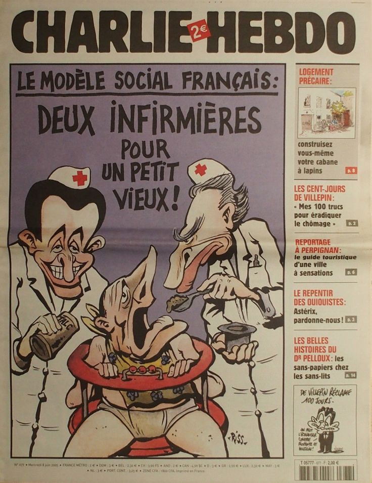 Charlie Hebdo - # 677 - 8 Juin 2005 - Couverture : Riss