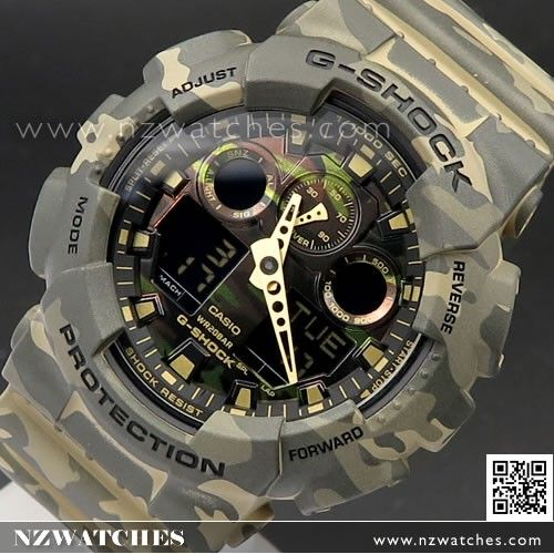 casio gshock camouflage world time military watch ga