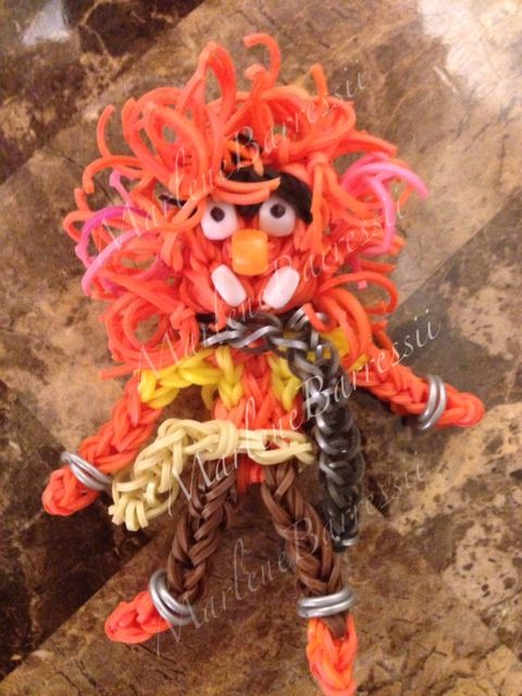 rainbow loom animal from the muppets by marlene barressii wow rainbow loom action figures. Black Bedroom Furniture Sets. Home Design Ideas