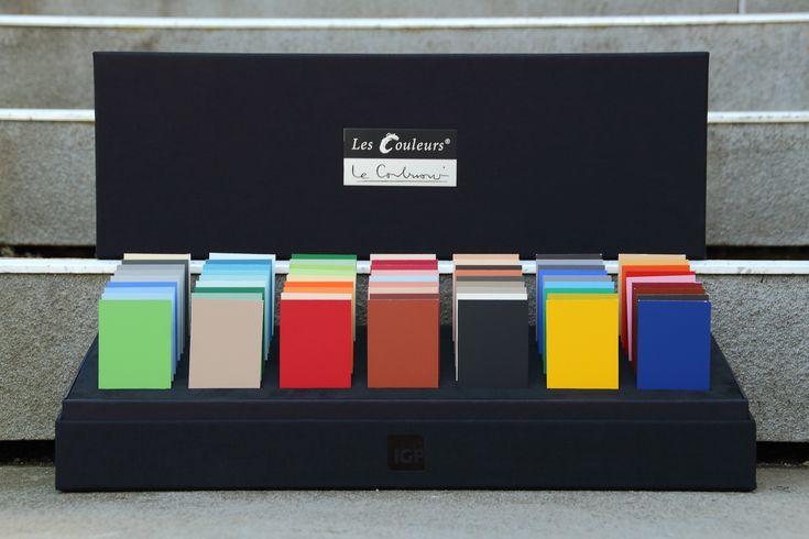 Les Couleurs® Le Corbusier – Claviers de Couleurs Sample box   The noble tool for architectural colour design – with IGP powder coating.