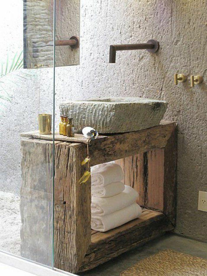 lavabo retro salle de bain vintage mur de couleur taupe salle de bain - Tablette Retro Salle De Bain