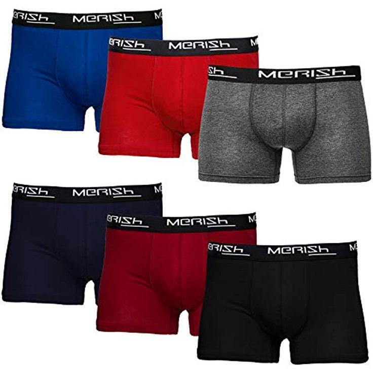 MERISH 6er Pack Boxershorts Men Herren Unterwäsche Unterhosen Männer 406 #Bekl…