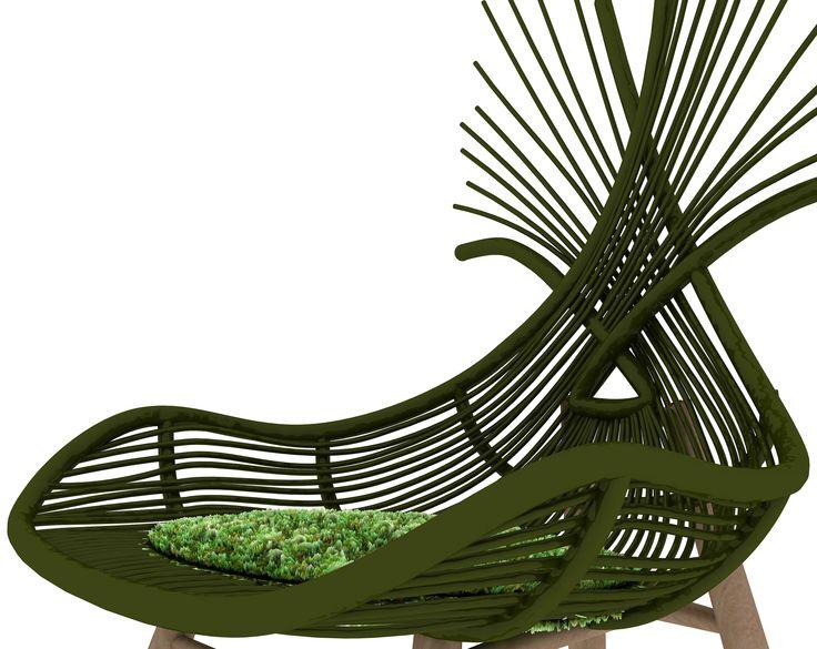 Pincuk Chair #Rattan #wooden legs #Indonesia design