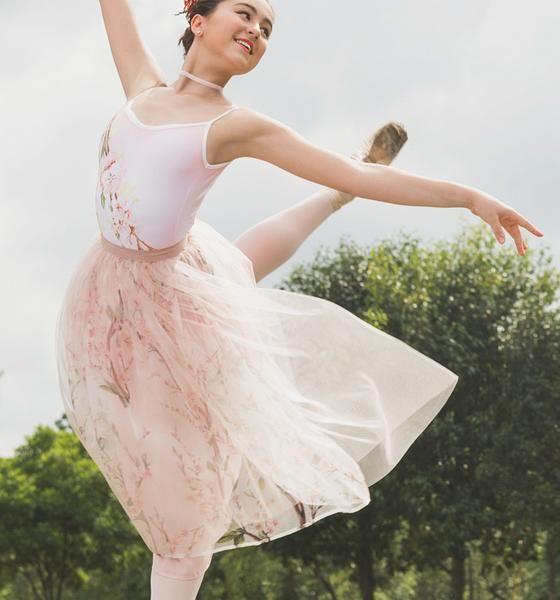 The Italian Tulle & Silk Organza Skirt - Almond Blossom