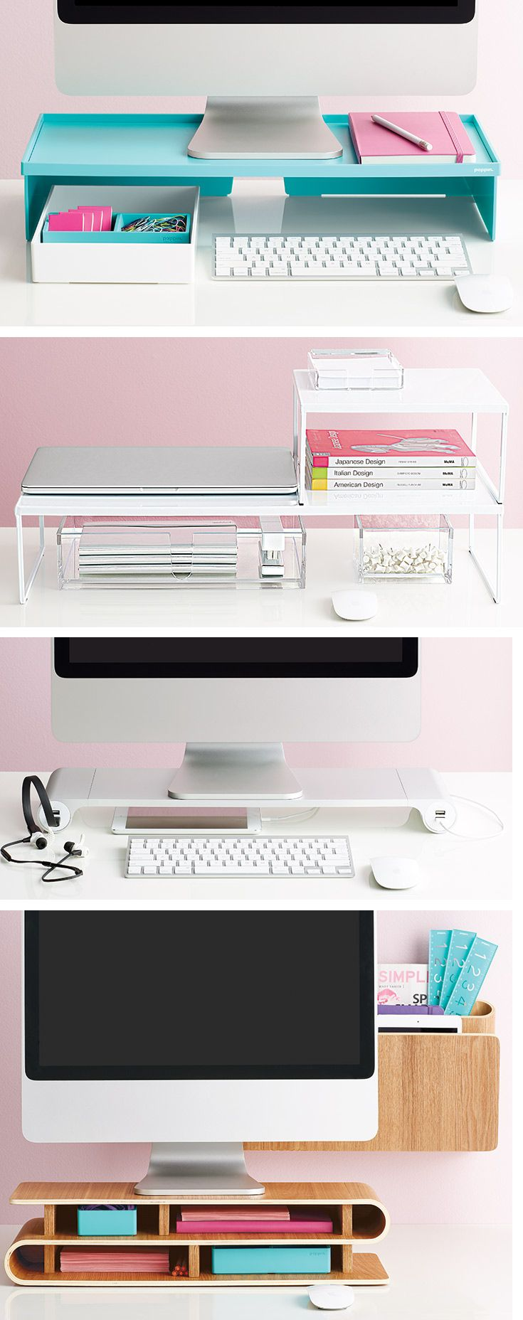 Organize Every Desk Setup With Creative Options From The Container Store!  This Is A Great Storage Idea For Stationery, Craft And Office Supplies!