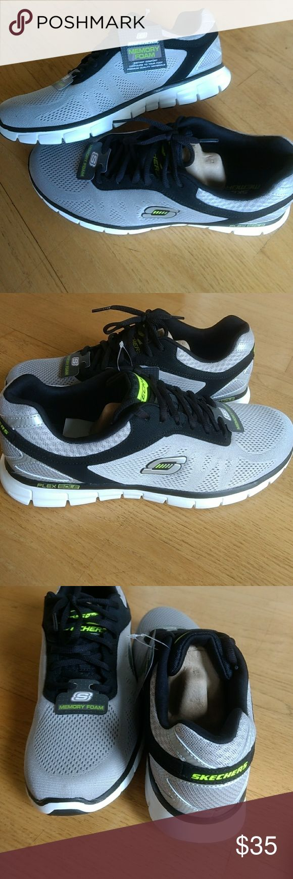 Sketchers sneakers Knit mesh fabric athletic training sneakers with air cooled memory foam insoles. Brand new!! Never been worn. Size 10. Skechers Shoes Athletic Shoes