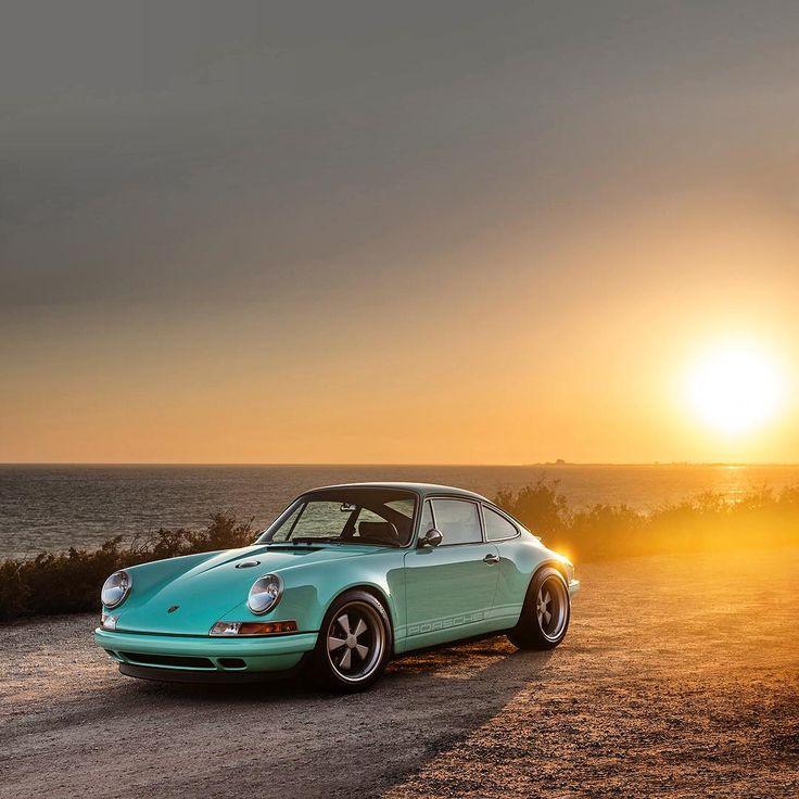 Singer Porsche glitning in the sun. #SportsCars #Speed #Power #Performance