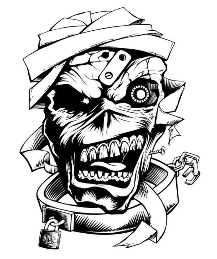 heavy metal band coloring pages - photo#25