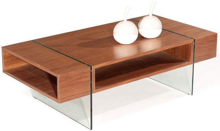 modern glass wood coffee tables