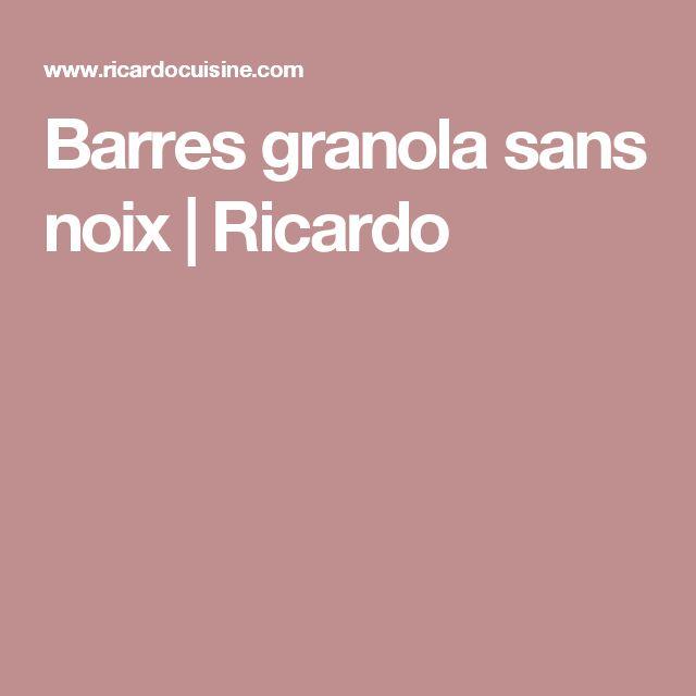 Barres granola sans noix   Ricardo