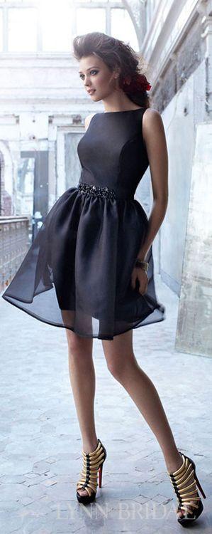 Little Black Dress Bridesmaid Dresses Lynnbridalbridesmaid