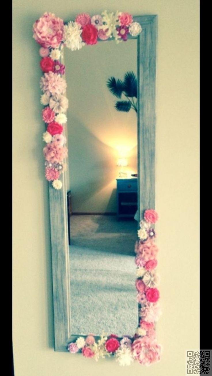9. DIY #Mirror Decor - 34 DIY Dorm Room Decor Projects to #Spice up Your Room ... → DIY #Decor